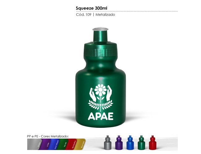 SQUEEZE PLÁSTICO (300ml) - INF 0109
