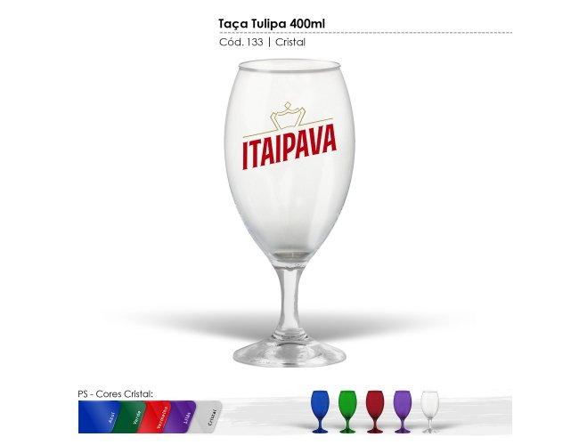Taça Tulipa 400ml Cristal modelo INF 0133