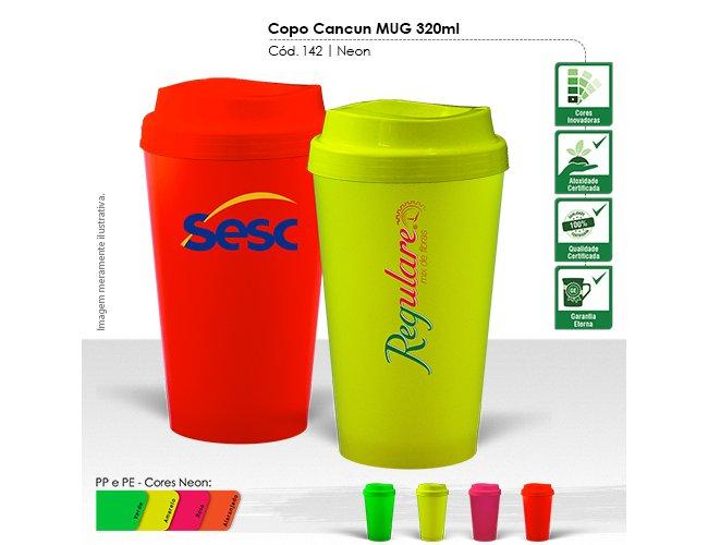 Copo Cancun MUG 320ml Neon Modelo INF 142