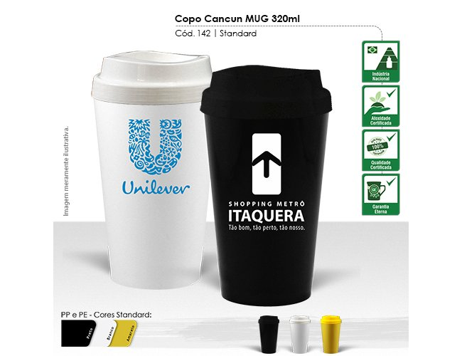 Copo Cancun MUG 320ml Modelo INF 142