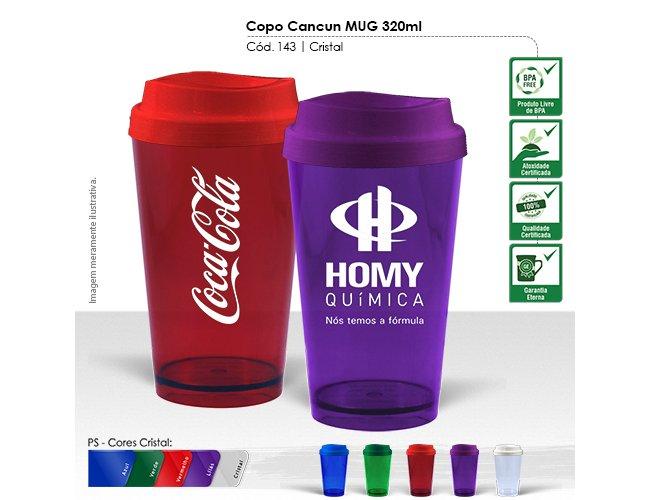 Copo Cancun MUG 320ml Cristal Modelo INF 143