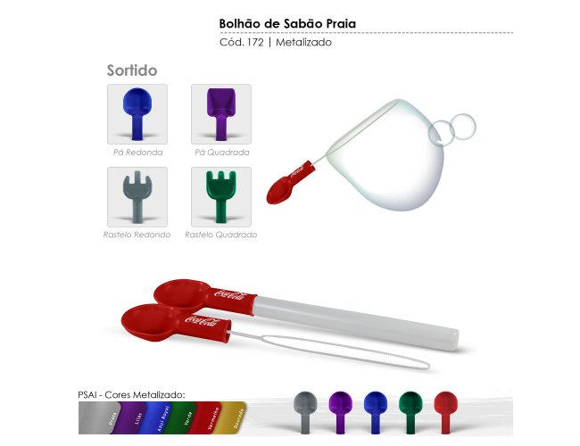 Bolhão de Sabão Praia Metalizado Modelo INF 0172