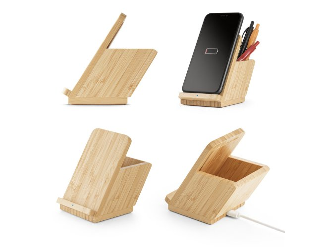 Carregador wireless em bambu Modelo INF 57940