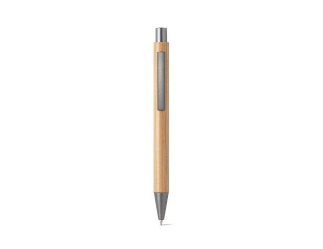 Esferográfica. Bambu. Clipe de metal Modelo INF 81009