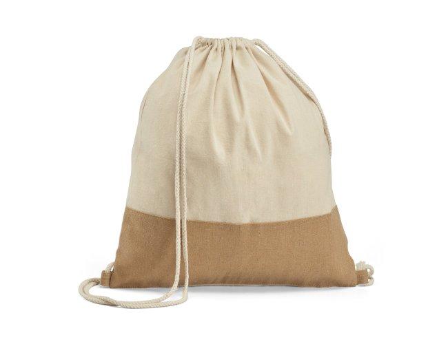 Sacola tipo mochila. 100% algodão: 160 g/m² Modelo INF 92919 37 x 41