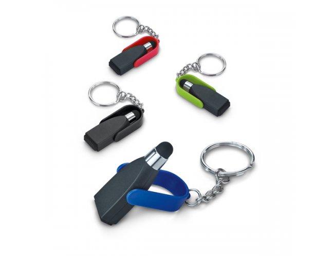 Chaveiro. ABS. Com ponteira touch e limpador de tela Modelo INF 93358