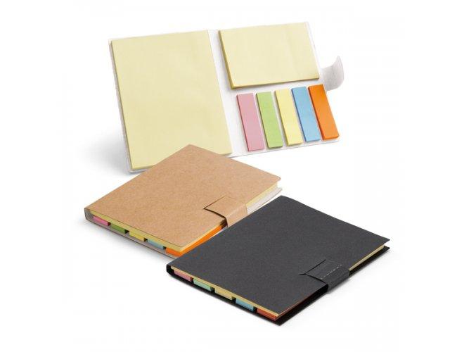 Caderno. Cartão. 7 blocos adesivados: 25 folhas Modelo INF 93426