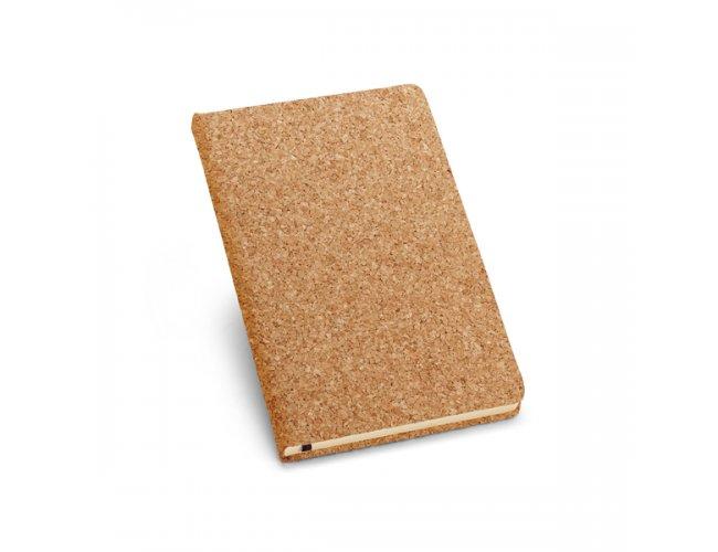 Caderno capa dura. Cortiça. Com 80 folhas Modelo INF 93489