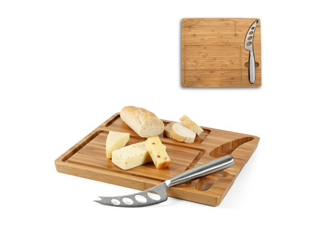 Tábua de queijos em bambu com faca MOdelo INF 93975