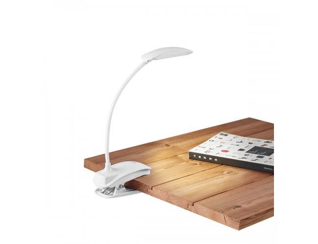 Luminária de mesa. ABS. LED COB. Com mola, braço flexível Modelo INF 94743