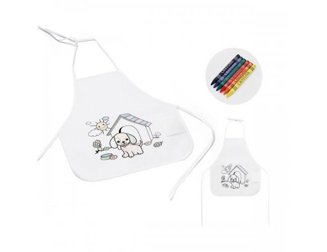 Avental de criança para colorir - 59834