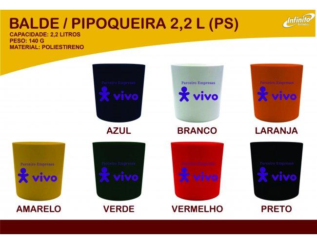 Balde de Pipoca 2,2litro Modelo INF 0004D