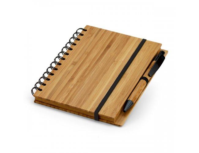 Caderno de Bambu - Modelo INF 93485    18 x 13,5cm