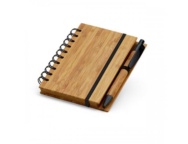 Caderno de Bambu - Modelo INF 93486    14,8 x 10,5cm