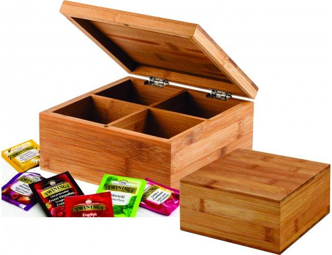 Caixa de chás em bambu Modelo INF 93978