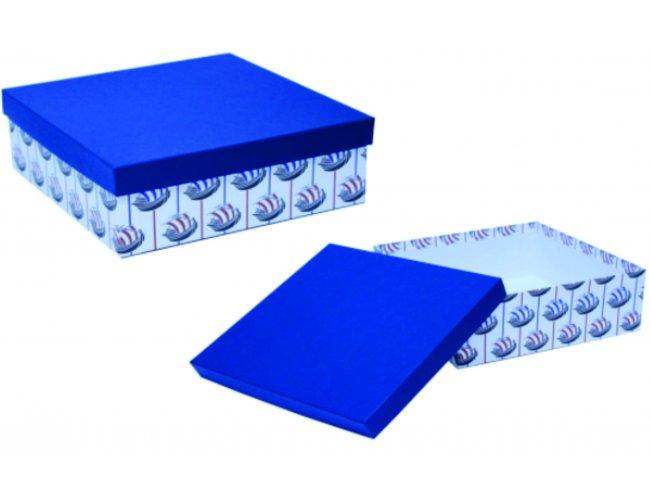 Caixa de Papelão Quadrada - Modelo INF Multi 2 - 25,0 x 25,0 x 10,0cm