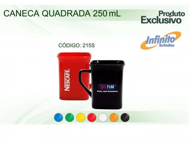 CANECA PLÁSTICA QUADRADA (250 ml) - INF 0215