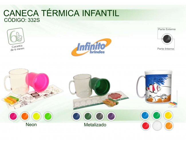 CANECA TÉRMICA INFANTIL (300 ml) - INF 0332