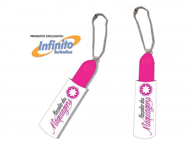 Chaveiro acrilico resinado - Modelo INF CH04 Formato Batom
