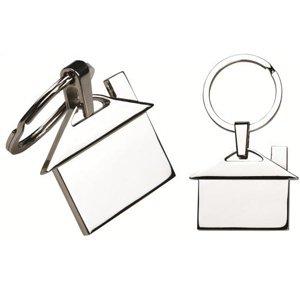 Chaveiro de metal em formato de Casa - Modelo INF 12209