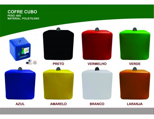 Cofre de Plástico Modelo INF 0023 formato cubo