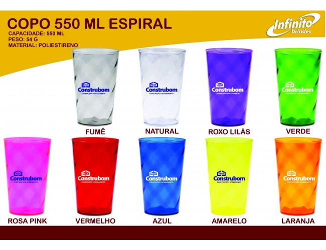 Copo Dose 550ml Espiral- Modelo INF 0010J
