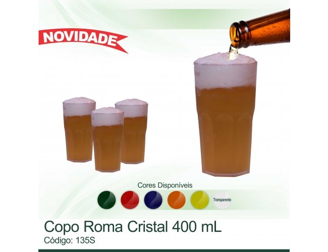 Copo Roma Cristal - Modelo INF 135S
