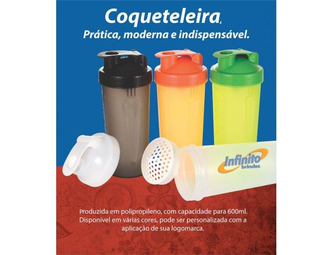 Coqueteleira plástica personalizada - Modelo INF 600   600ml