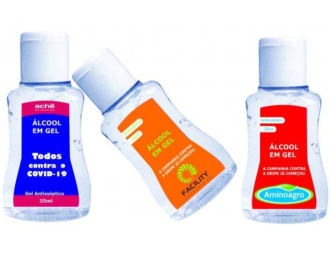 Álcool gel personalizado 35ml - Modelo INF 282
