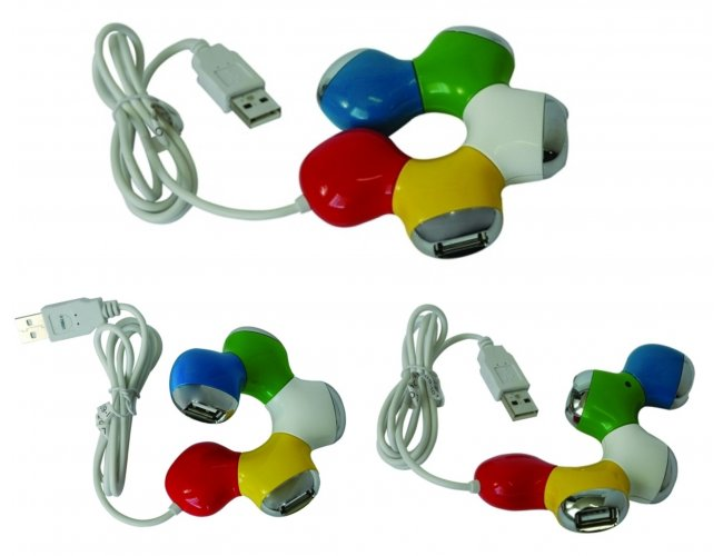 HUB FLEXÍVEL COM 4 PORTAS USB - INF 3502