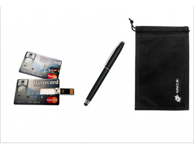 Kit Caneta Touch  e Pen drive Card - Modelo INF 10108