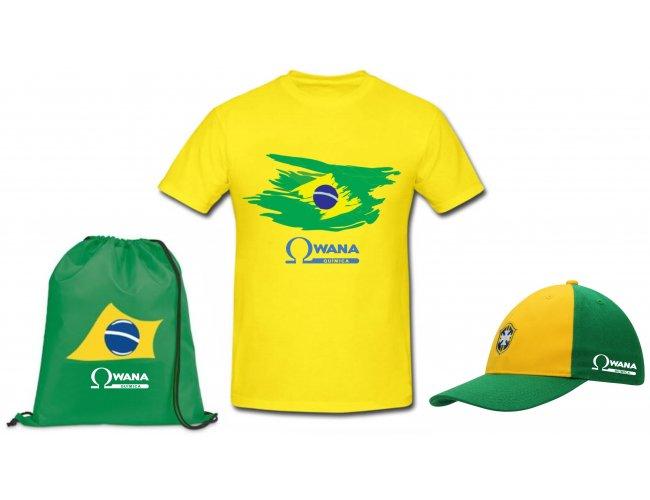 Kit copa do Mundo: camiseta, boné e mochila - Modelo INF 1008