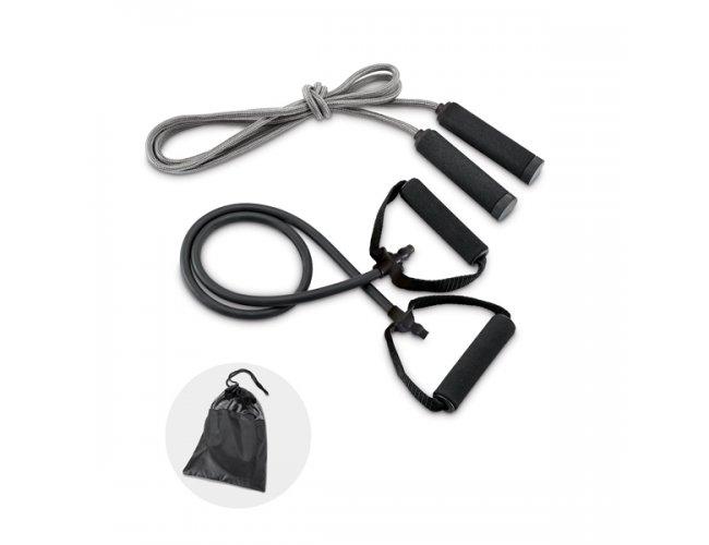 Kit fitness. Incluso elástico e corda de pular. - Modelo INF 98086