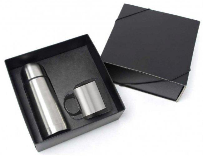 Kit Garrafa Térmica e caneca de Metal Modelo INF 10375