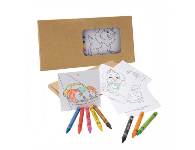 Kit para pintar em caixa de cartão - Modelo INF 91755
