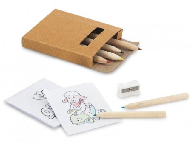 Kit para pintar em caixa de cartão - Modelo INF 91758