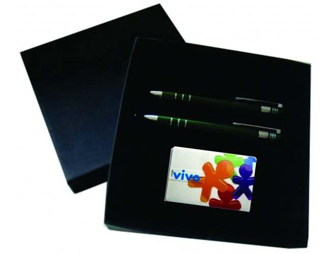 Kit Exclusivo Caneta Lapiseira Pen card - Modelo INF 13656