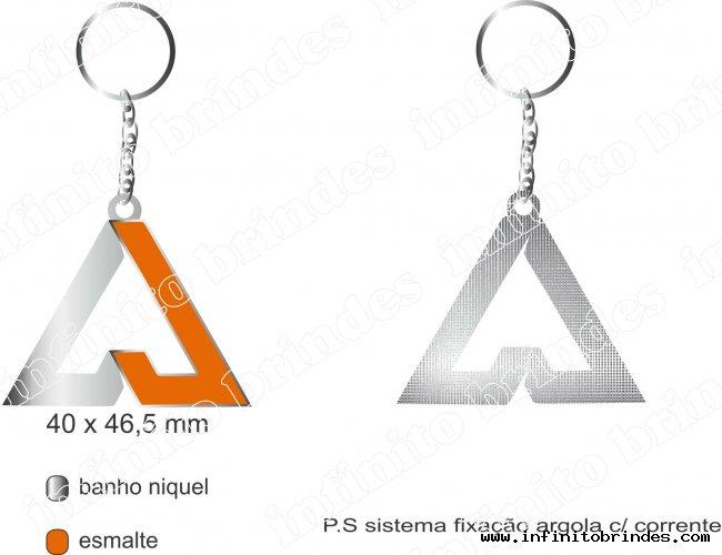 Chaveiro de Metal - Modelo INF V1