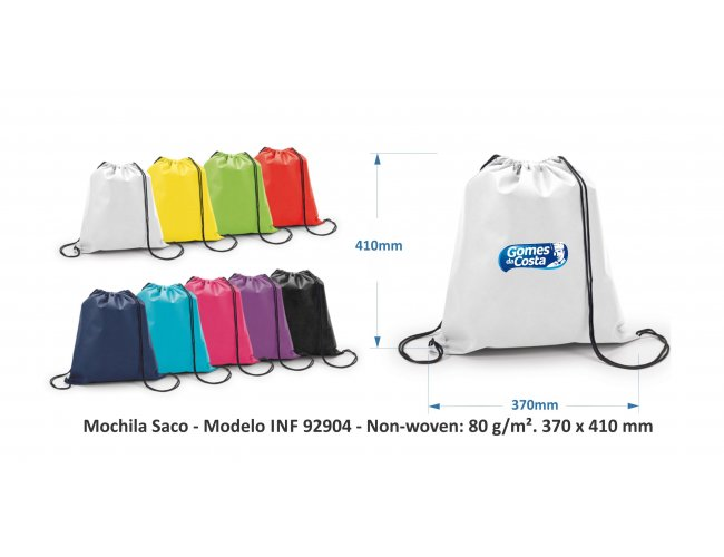 Mochila Tipo saco Modelo INF 92904