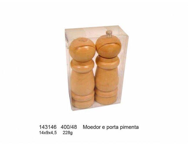 Moedor e Porta Pimenta - Modelo INF 143146 Madeira