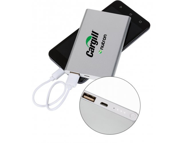 Power bank Metal com Indicador Led - Modelo INF 2012