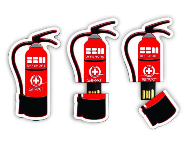 Pen drive Emborrachado - Modelo INF 10110 - Bidimensional (2D)