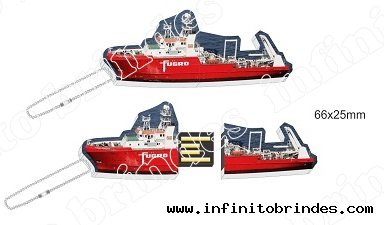Pen drive Estilizado  - Formato Navio Petroleiro - Modelo INF 10101
