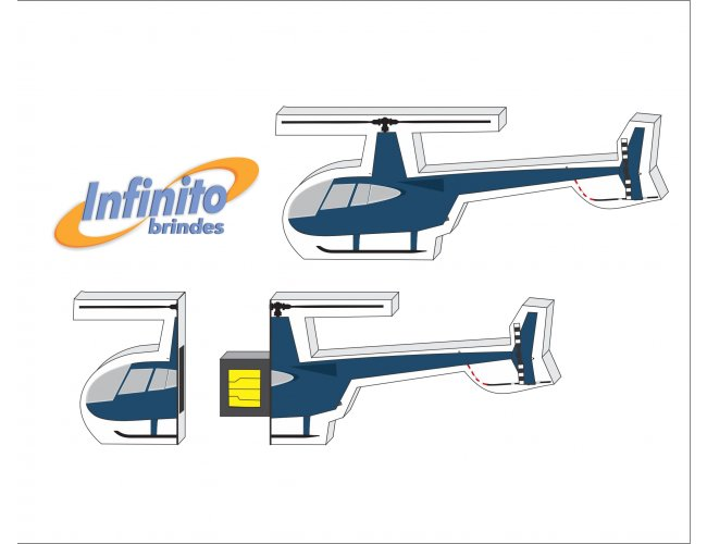 Pen Drive Estilizado - Modelo INF 10101 - Formato Helicóptero