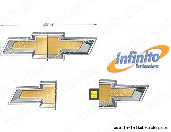 Pen drive Estilizado - Modelo INF 10101 - Logomarca