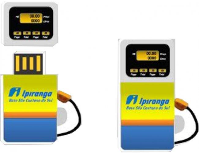 pen drive estilizado - modelo INF 10101 - Ipiranga