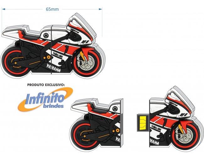 Pen Drive Estilizado - Modelo INF 10101 - Formato Moto