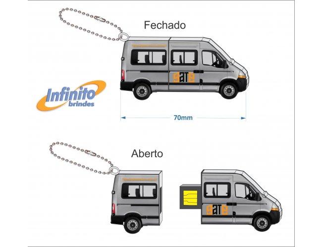 Pen drive estilizado - Modelo INF 10101 Van Executiva