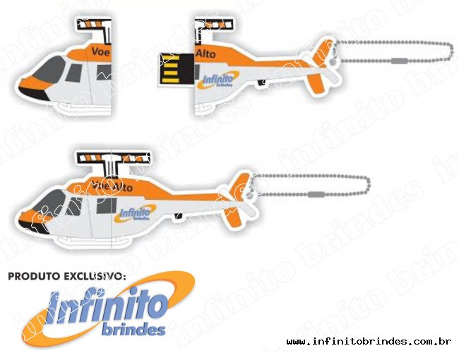 Pen drive Estilizado Formato Helicóptero - MOdelo INF 10101