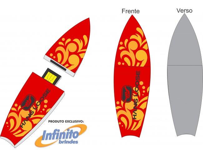 Pen drive ESTILIZADO - Modelo INF 10101 esporte Surfistas